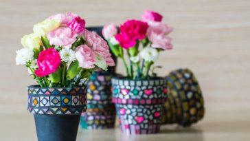 jarros com artesanatos