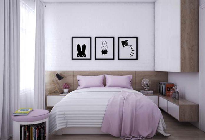 Decoração de quarto feminino moderno