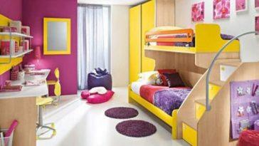 decoração colorida para o quarto