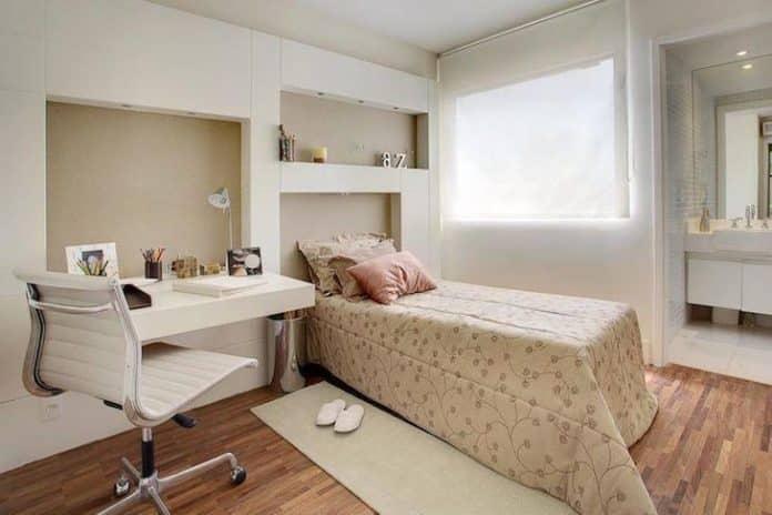 quarto feminino no estilo moderno para quarto de solteiro