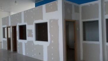 construção feita com drywall