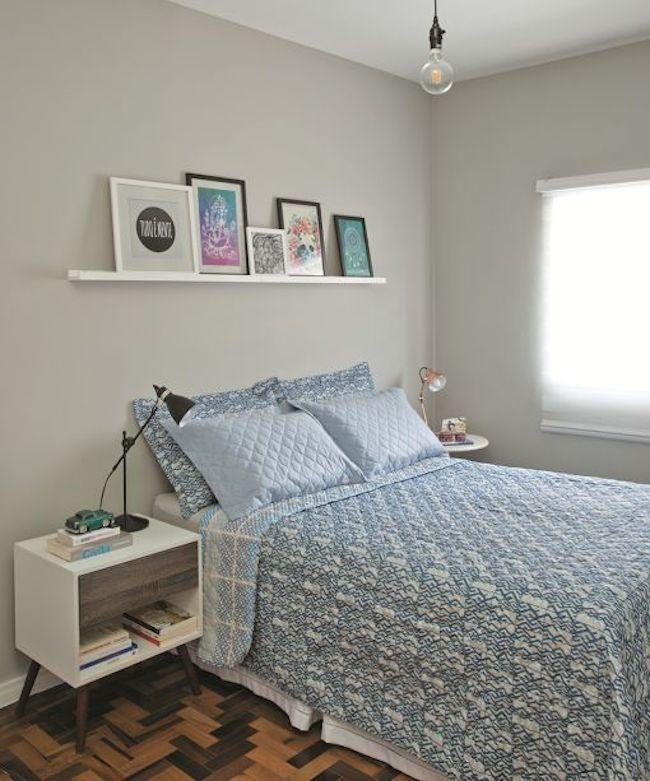 quarto de casal simples e charmoso