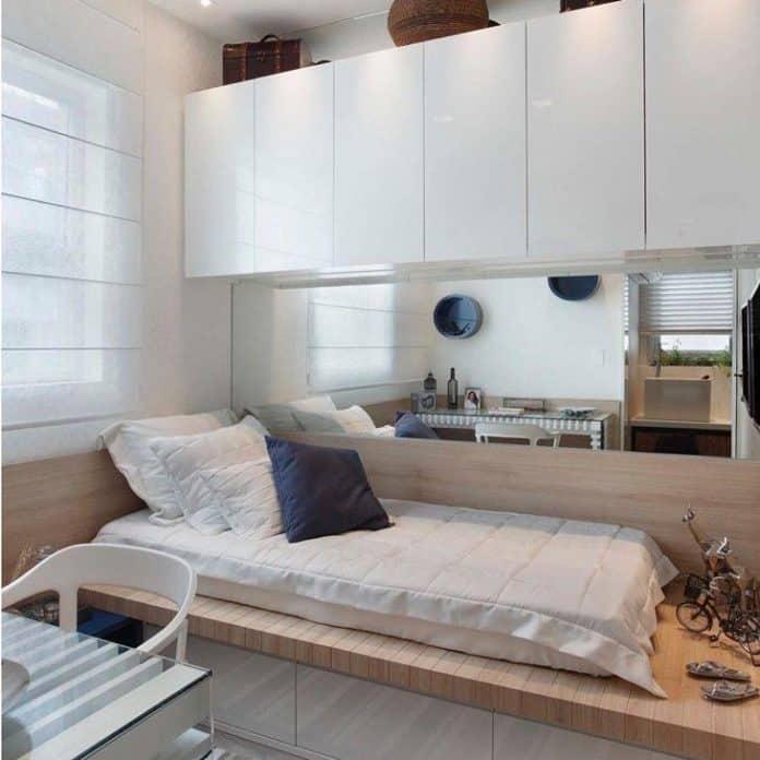 sofá cama para quarto de hospede com pequeno espaço