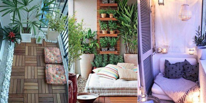 várias decorações de varanda