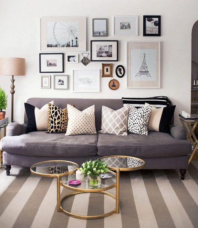 tapete com forma geométrica para sala