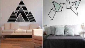 Como decorar uma casa alugada: decoração com fita isolante