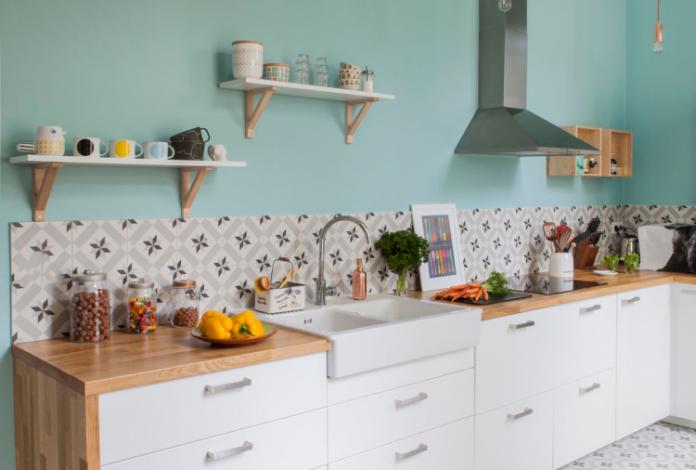 cozinha com as cores tendencias para 2020