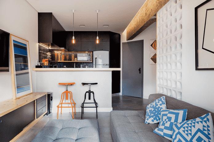 cozinha integrada para loft