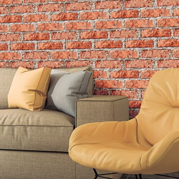 papel de parede com cola adesiva