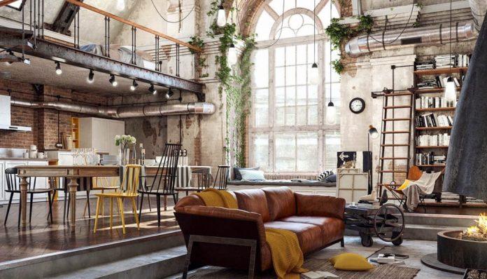 A mistura dos estilos cai bem na decoração industrial