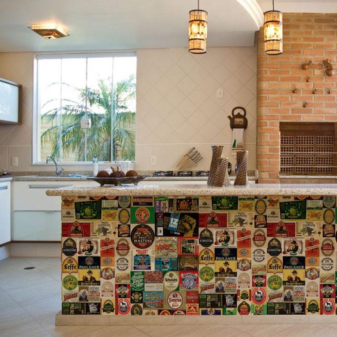 papel de parede retrô para cozinha