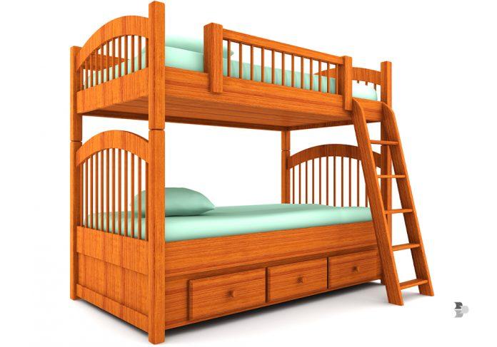 Beliche de madeira para crianças