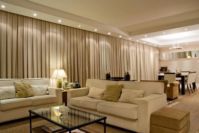 Cortina para decoração de interiores