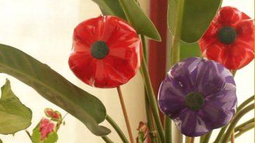 DIY: Como fazer Flores decorativas reciclando materiais