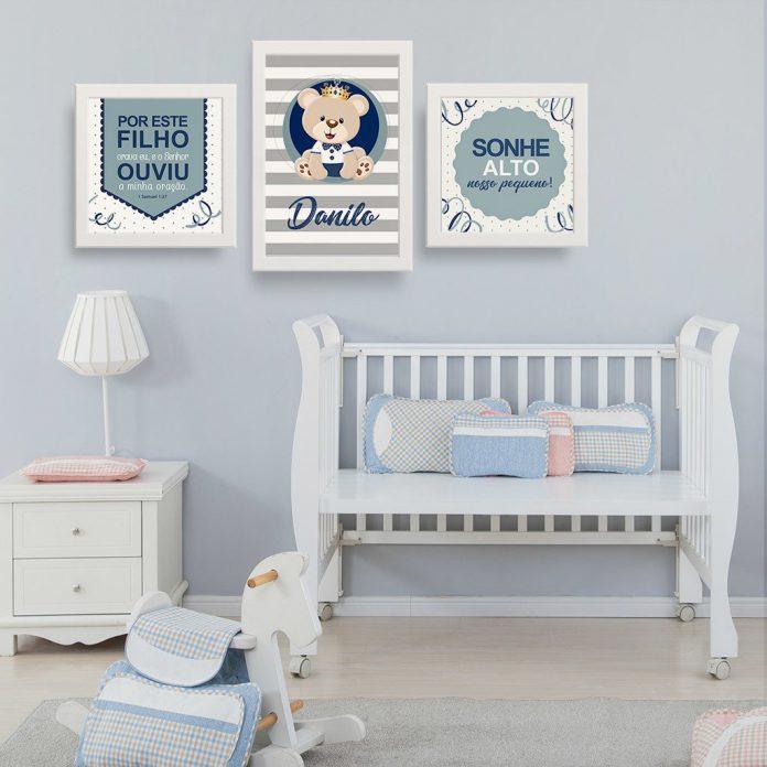 Inspirações de quadros para colocar no quarto do seu bebe