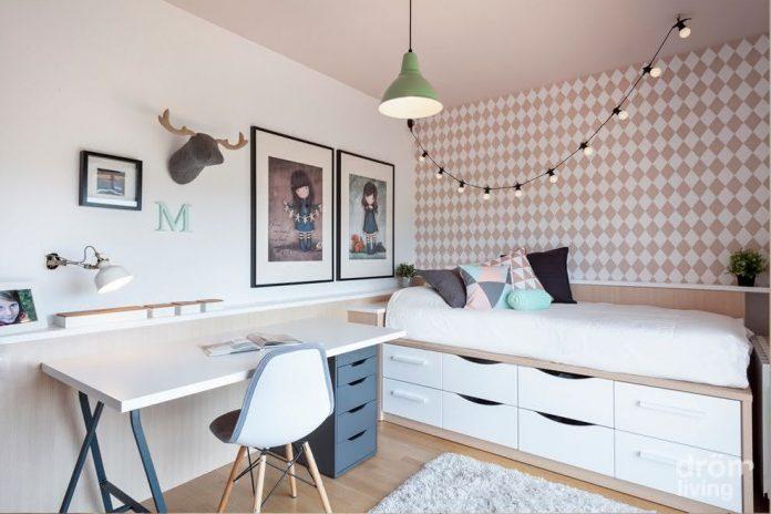 Estilo minimalista para quartos de adolescentes
