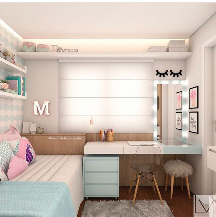 decoração clean para quarto de adolescente feminino