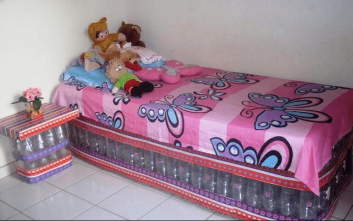 cama feita de garrafa pet 100% reciclável