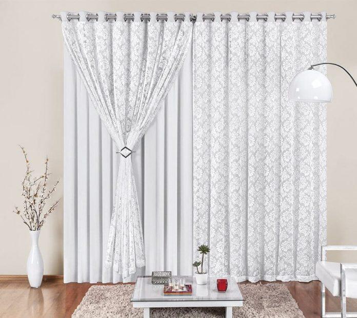 cortina feita de renda