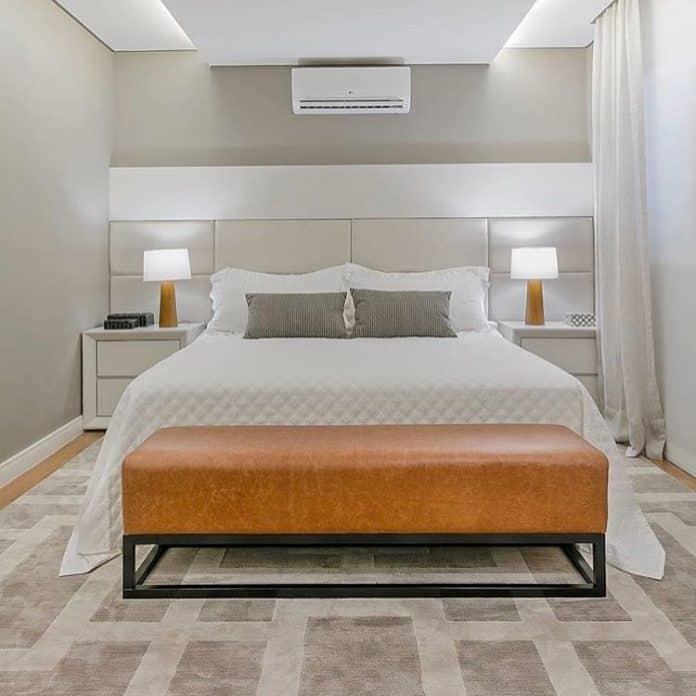 modelo de cabeceira para um quarto clean