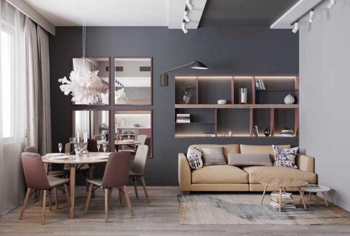 cor cinza para uma sala mais moderna