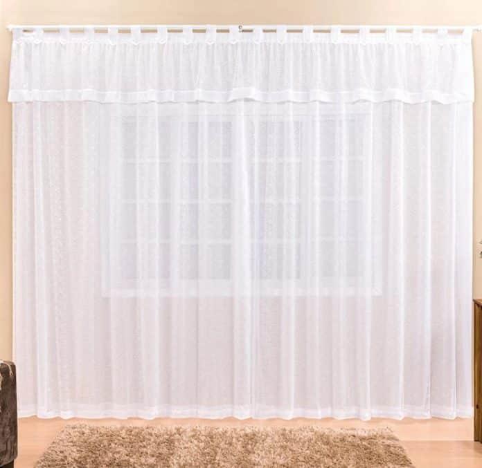 cortina de renda para sala