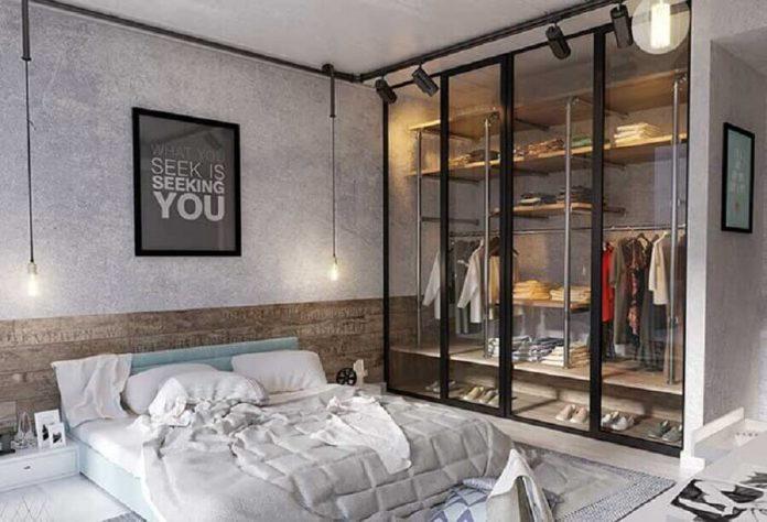 móveis e enfeites para a decoração no estilo industrial