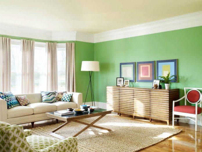 cor de sala verda