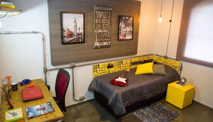 Estilo industrial para quartos de adolescentes