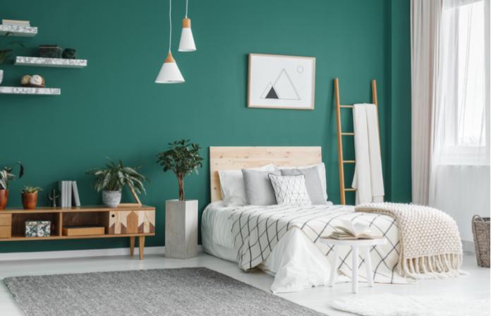 quarto monocromático verde