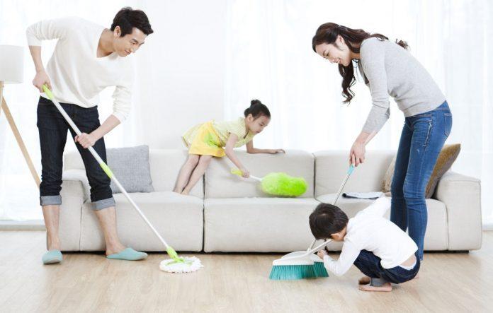 a importância de todos ajudarem na limpeza