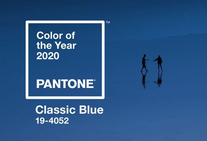 Cor classic blue escolhida pela pantone
