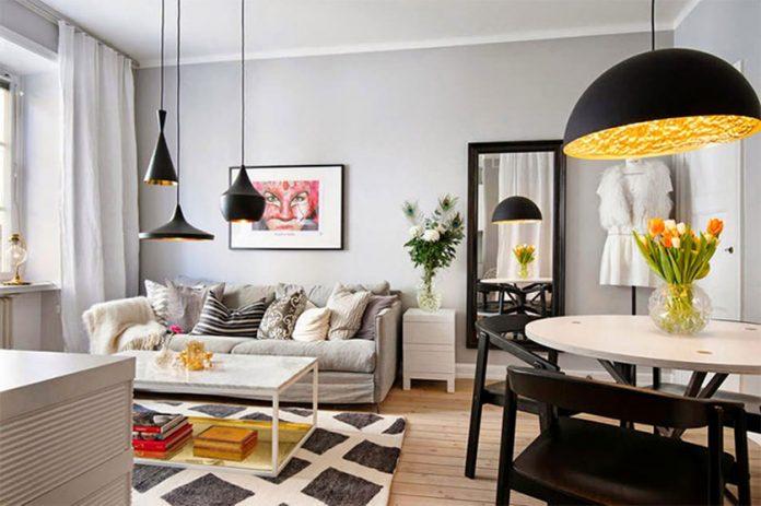 iluminação natural para sala integrada com a cozinha