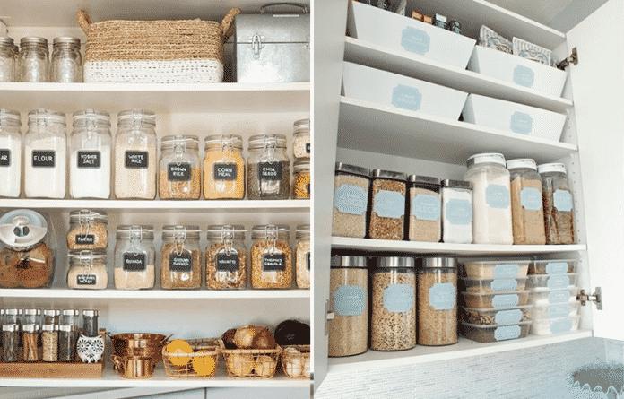A importancia de uma organização das comidas na cozinha