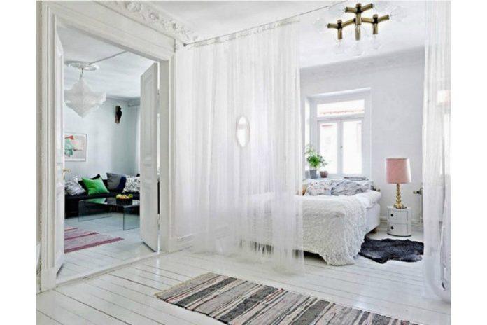 cortina para a divisão de ambientes