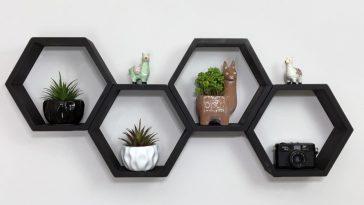 Nicho em forma de losango para apoio de plantas para a sua decoração