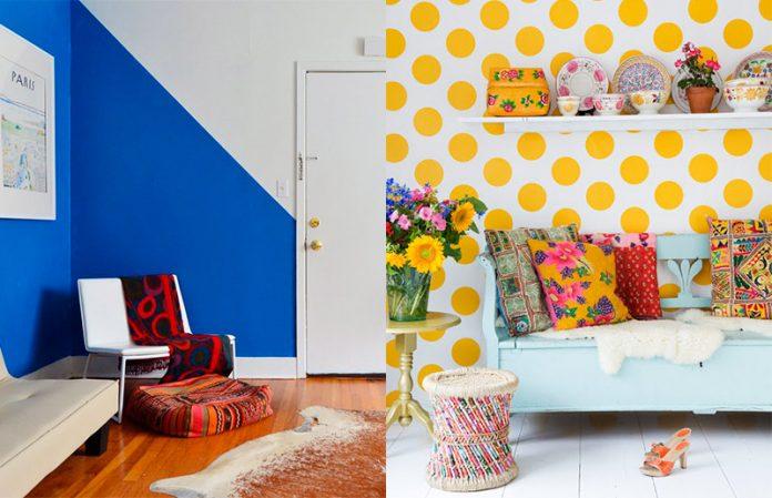 paredes pintadas com figuras geométricas