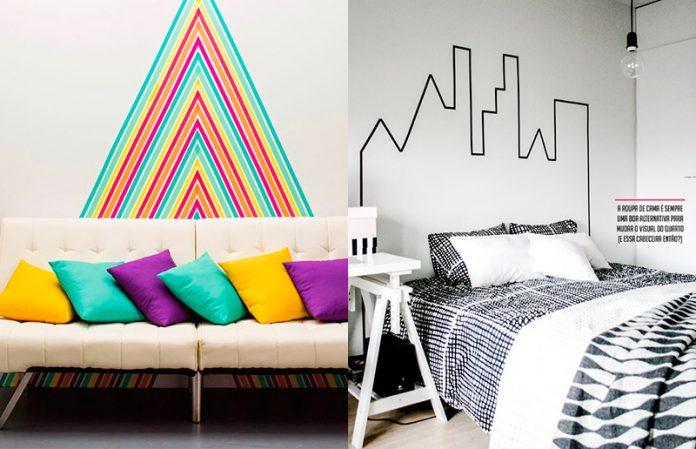 Fitas para mudar a decoração da sua parede ou ambiente sem ter que fazer bagunça