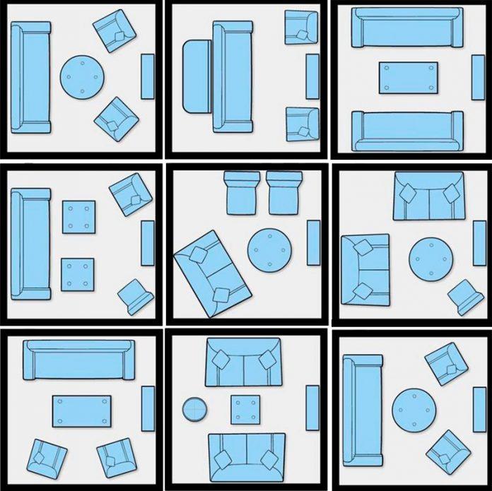 9 tipos de maneiras de distribuir os móveis para dar uma cara nova