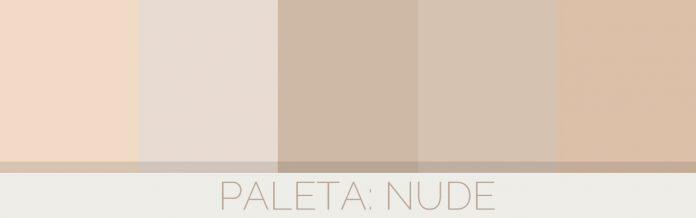 Decoração de sala de estar na cor Nude