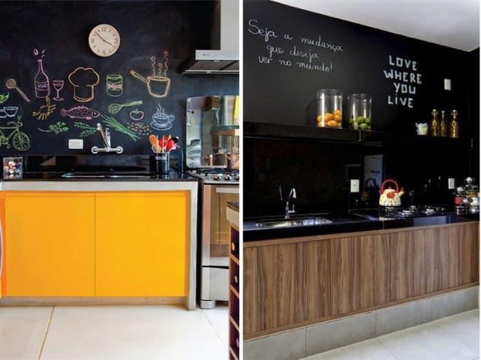 bar em casa simples e charmoso com paredes preto