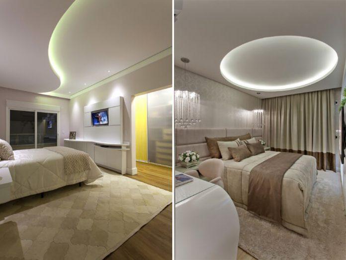 sancas para quarto diferentes uma em formato circular e a outra em S