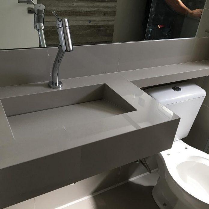 Pia de Porcelanato: Lindos modelos para o seu banheiro