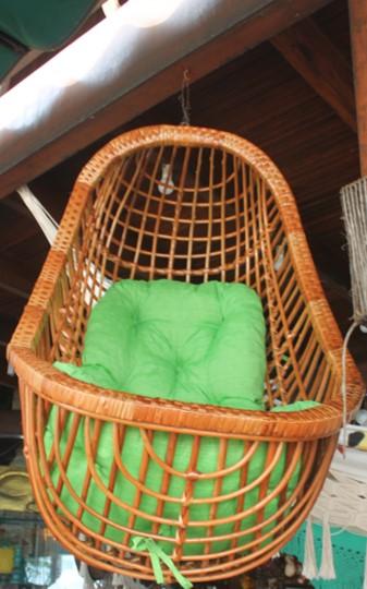 Cadeira de balanço suspensa de vime
