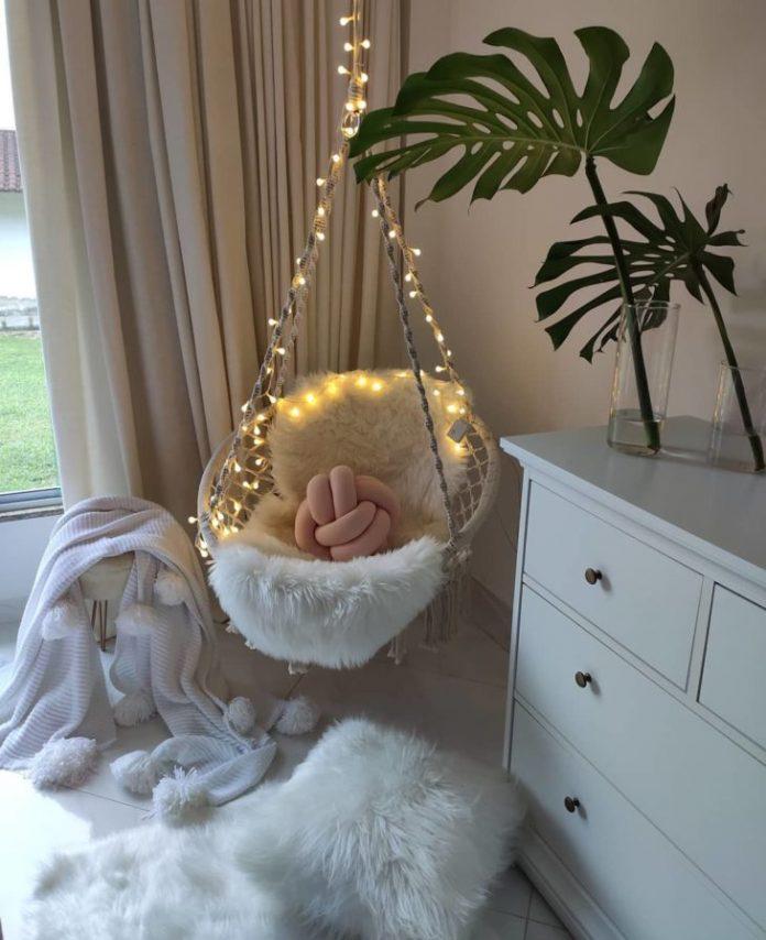 Cadeira de balanço suspensa para quarto de bebê