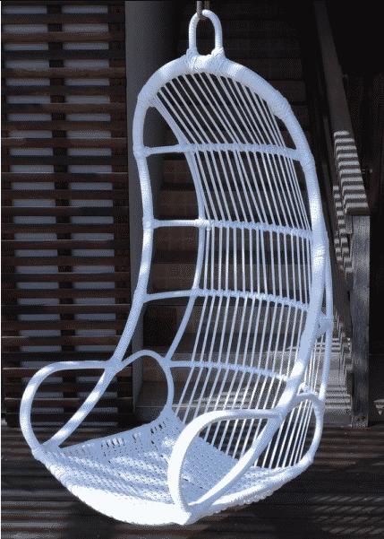 Cadeira de balanço suspensa de fibra sintética
