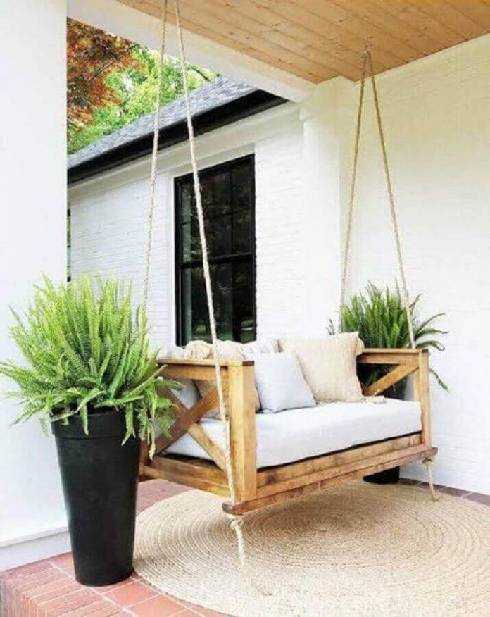 Cadeira de balanço suspensa para usar na varanda
