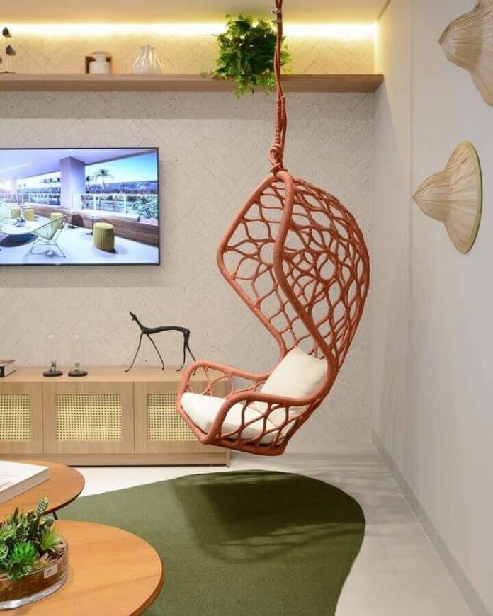 Cadeira de balanço suspensa para usar na sala