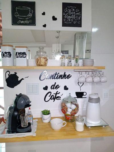 Cantinho do café na cozinha: saiba como decorar.