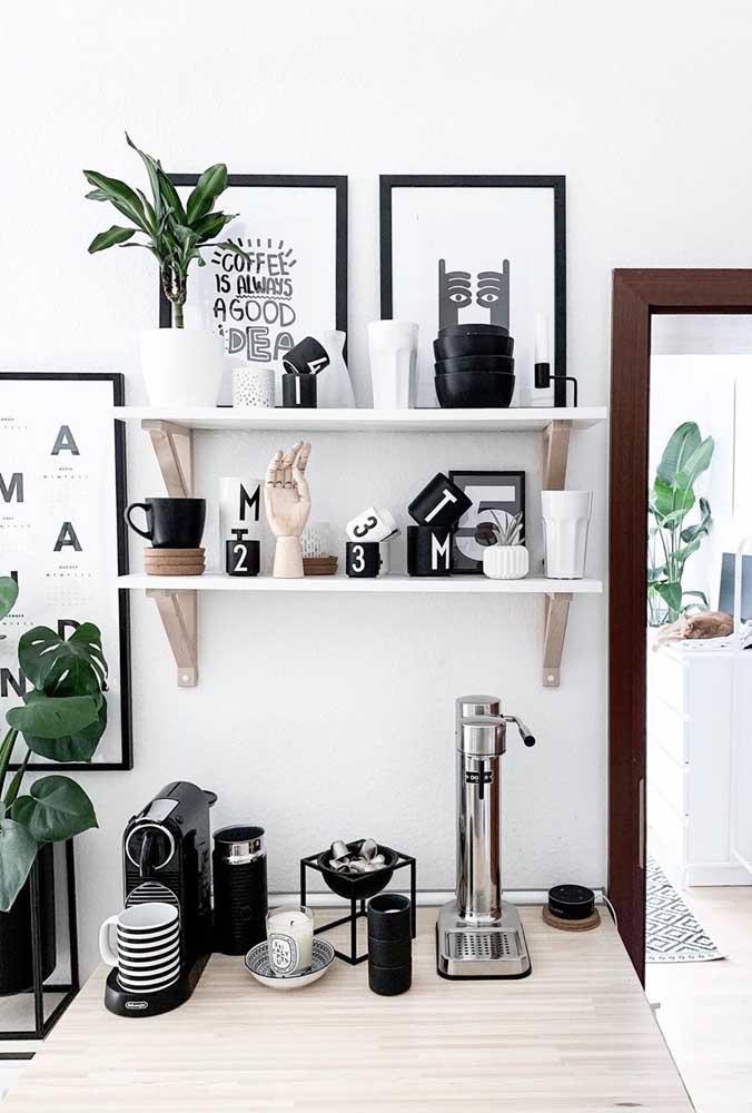 Objetos para seu cantinho do café